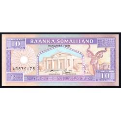 Сомалиленд 10 шиллингов 1996 г. (SOMALILAND 10 shillings 1996 g.) P2b:Unc
