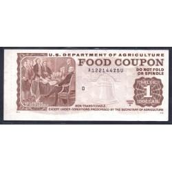 США талон на продукты номиналом 1 доллар 1983 г. (Coupon for products with a face value of 1 dollar 1983) P:aUnc - RAR!!!