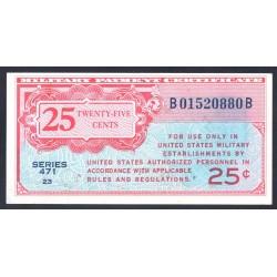 США 25 центов ND (1947-1948 г.) серия 471 (UNITED STATES OF AMERICA 25 Cents ND (1947-1948) MILITARY) PM10:aUnc