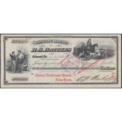США Банковский чек на 222 доллара и 67 центов 1912 года, Нью Йорк (UNITED STATES OF AMERICA  Bank Receipt for 222.67 Dollars 1912, New York )