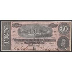 США 10 долларов 1864 года, Ричмонд Калифорния (UNITED STATES OF AMERICA , Richmond 10 Dollars 1864)