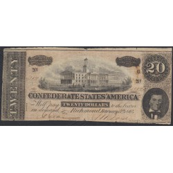 США 20 долларов 1864 года, Ричмонд Калифорния (UNITED STATES OF AMERICA , Richmond 20 Dollars 1864)