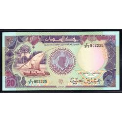 Судан 20 фунтов ND (1991 г.) (SUDAN 20 pounds ND (1991 g.) Р47:Unc