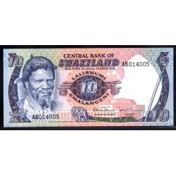 Свазиленд 10 эмалангени ND (1985 г.) (SWAZILAND 10 emalangeni ND (1985 g.)) P10с:Unc 10 эмалангени ND (1985 г.) (SWAZILAND 10 emalangeni ND (1985 g.)) P10с:Unc