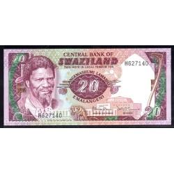 Свазиленд 20 эмалангени ND (1985 г.) (SWAZILAND 20 emalangeni ND (1985 g.)) P11b:Unc