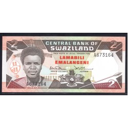 Свазиленд 2 эмалангени ND (1987 г.) (SWAZILAND 2 emalangeni ND (1987 g.) P13:Unc
