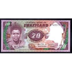 Свазиленд 20 эмалангени ND (1986 г.) (SWAZILAND 20 emalangeni ND (1986 g.)) P12:Unc