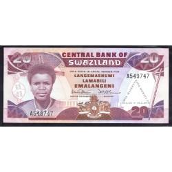 Свазиленд 20 эмалангени 1989 г. (SWAZILAND 20 emalangeni 1989 g.) P17:Unc
