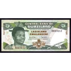 Свазиленд 5 эмалангени ND (1992 г.) (SWAZILAND 5 emalangeni ND (1992 g.) P19а:Unc