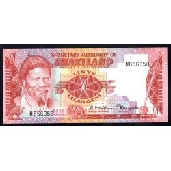 Свазиленд 1 лилангени ND (1974 г.) (SWAZILAND 1 lilangeni ND (1974 g.) P1:Unc
