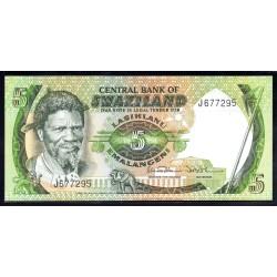 Свазиленд 5 эмалангени ND (1984 г.) (SWAZILAND 5 emalangeni ND (1984 g.) P9b:Unc