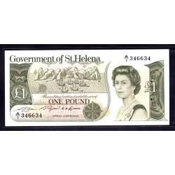 Святая Елена 1 фунт ND (1981 г.) (Saint Helena 1 pound ND (1981 g.)) P9:Unc 2