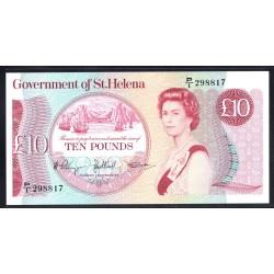 Святая Елена 10 фунтов ND (1985 г.) (Saint Helena 10 pounds ND (1985 g.)) P8b:Unc