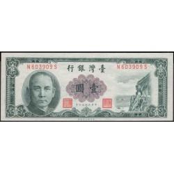 Тайвань 1 юань 1961 год (Taiwan 1 yuan 1961 year) P 1971a:Unc