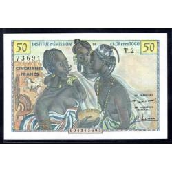 Того 50 франков ND (1956 г.) (TOGO 50 francs ND (1956 g.)) P45:Unc