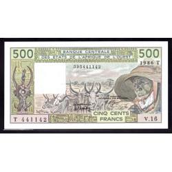 Того 500 франков 1986 г. (TOGO 500 francs ND 1986 g.) P806Т:Unc