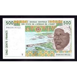 Того 500 франков ND (1991 - 2002 г.) (TOGO 500 francs ND (1991 - 2002 g.)) P810d:Unc