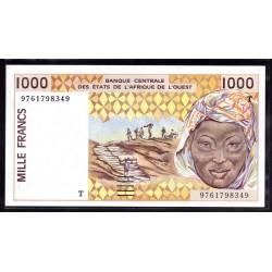 Того 1000 франков ND (1991 - 2002 г.) (TOGO 1000 francs ND (1991 - 2002 g.)) P811Td:Unc