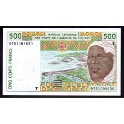 Того 500 франков ND (1991 - 2002 г.) (TOGO 500 francs ND (1991 - 2002 g.)) P810g:Unc