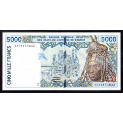 Того 5000 франков ND (1992 - 2002 г.) (TOGO 5000 francs ND (1992 - 2002 g.)) P813Td:Unc