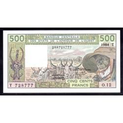 Того 500 франков 1984 г. (TOGO 500 francs ND 1984 g.) P806t:Unc