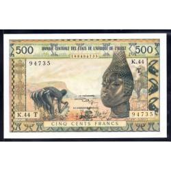 Того 500 франков ND (1959 - 61 г.) (TOGO 500 francs ND (1959 - 61 g.)) P802m:Unc
