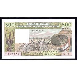Того 500 франков 1985 г. (TOGO 500 francs ND 1985 g.) P806l:Unc