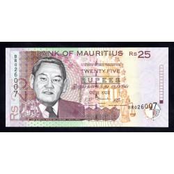 Маврикий 25 рупий 2009 г.  (MAURITIUS 25 rupees 2009 g.) P49d:Unc