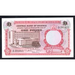 Нигерия 1 фунт ND (1967 г.) (NIGERIA 1 pound ND (1967 g)) P8:Unc