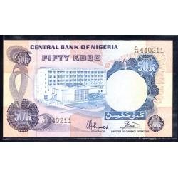 Нигерия 50 кобо ND (1973 -78 г.г.) (NIGERIA 50 kobo ND (1973 - 78 g.)) P14g:Unc
