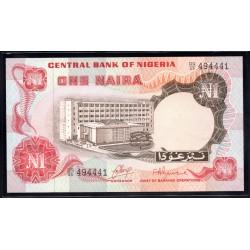 Нигерия 1 найра ND (1973 г.) (NIGERIA 1 naira ND (1973 g.)) P15a:Unc