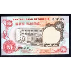 Нигерия 1 найра ND (1973 - 78 г. г.) (NIGERIA 1 naira ND (1973 - 78 g.)) P15d:Unc