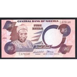 Нигерия 5 найра 2005 г. (NIGERIA 5 naira 2005 g.) P24h:Unc