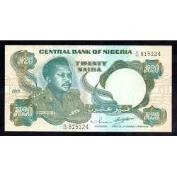 Нигерия 20 найра 2001 г. (NIGERIA 20 naira 2001g.) P26g:Unc