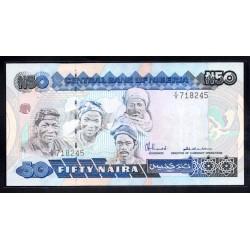 Нигерия 50 найра ND (1984 - 2000 г. г.)  (NIGERIA 50 naira ND (1984 - 2000 g.) P27a:Unc