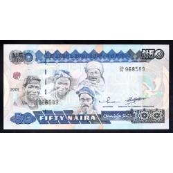 Нигерия 50 найра 2001 г. (NIGERIA 50 naira 2001g.) P27d:Unc