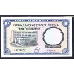 Нигерия 10 шиллингов ND (1968 g.) (NIGERIA 10 shillings ND (1968 g.)) P11b:Unc