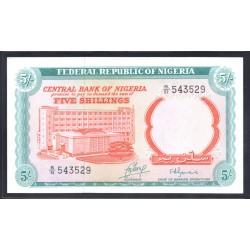 Нигерия 5 шиллингов ND (1968 г.) (NIGERIA 5 shillings ND (1968 g.)) P10b:Unc
