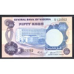Нигерия 50 кобо ND (1973 -78 г.г.) (NIGERIA 50 kobo ND (1973 - 78 g.)) P14d:Unc