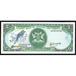 Тринидад и Тобаго 5 долларов 1979 г. (TRINIDAD & TOBAGO 5 Dollars 1979) P37а:Unc