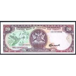 Тринидад и Тобаго 20 долларов 1979 г. (TRINIDAD & TOBAGO 20 Dollars 1979) P39с:Unc