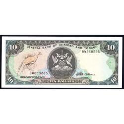 Тринидад и Тобаго 10 долларов 1979 г. (TRINIDAD & TOBAGO 10 Dollars 1979) P38d:Unc