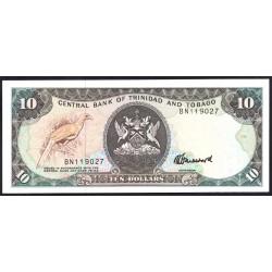 Тринидад и Тобаго 10 долларов 1979 г. (TRINIDAD & TOBAGO 10 Dollars 1979) P38с:Unc