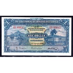 Тринидад и Тобаго 1 доллар 1939 г. (TRINIDAD & TOBAGO 1 Dollar 1939) P5b:Unc