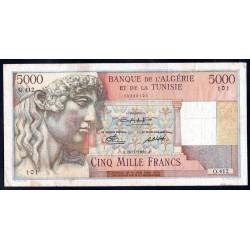 Тунис 5000 франков 1950 г. (TUNISIE 5000 francs 1950 g.) Р27:VF