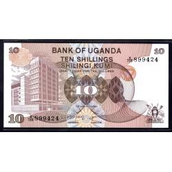 Уганда 10 шиллингов ND (1979 г.) (UGANDA 10 shillings ND (1979 g.)) P11a:Unc