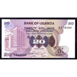 Уганда 20 шиллингов ND (1979 г.) (UGANDA 20 shillings ND (1979 g.)) P12а:Unc
