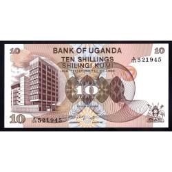 Уганда 10 шиллингов ND (1979 г.) (UGANDA 10 shillings ND (1979 g.)) P11b:Unc