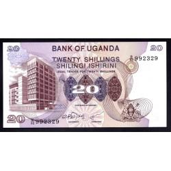 Уганда 20 шиллингов ND (1979 г.) (UGANDA 20 shillings ND (1979 g.)) P12b:Unc