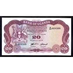 Уганда 20 шиллингов ND (1966 г.) (UGANDA 20 shillings ND (1966 g.)) P3:Unc